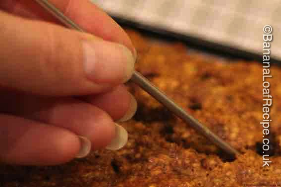 skewer your cake to see if it is cooked